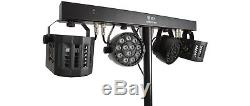 QTX DERBY FX LED PARTY BAR All In one Disco DJ Lighting System Double Bundle