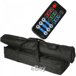 QTX Derby Par Can FX LED Party Bar All In One Disco DJ Lighting System Inc Cases