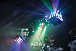 Qtx Derby Fx Led Party Bar All In One Disco Stage Band Dj Light System X2 +bags