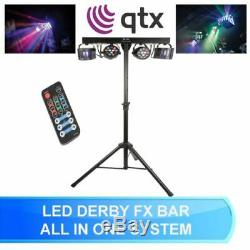 Qtx Derby Fx Led Party Bar All In One Disco Stage Band Dj Lighting System