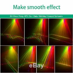 RGYV 4 Lens 460mW DMX Stage Lighting Laser LED Light Projector Party Disco Xmas