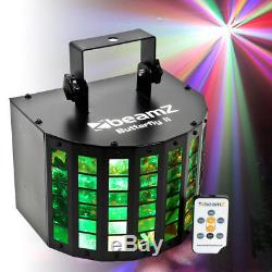 Set Disco Derby Effect Mobile DJ Lights 6x3w LED 288 BeamsBeamz Butterfly II