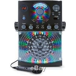 Singing Machine Bluetooth Karaoke System with LED Disco Lights and Microphone New
