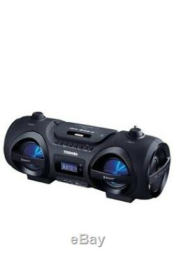 Toshiba Portable Wireless Boombox Remote CD player Bluetooth Disco LED lights