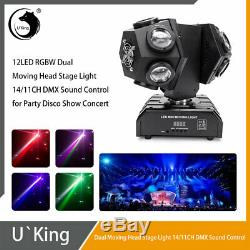 U`King 12 LED Beam Moving Head Stage Light 120W DMX DJ Disco Party Decorative