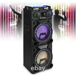 VS212 Active Powered Bluetooth Speaker DJ Disco Party Box with LED Lights 2400W