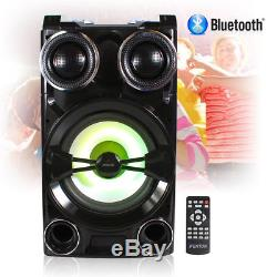 Wireless Bluetooth Disco Party Speaker Megasound Boombox with USB RGB LED Lights